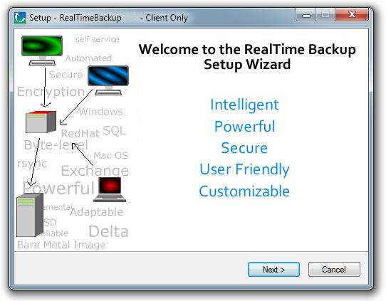RealTime Backup Custom Backup Solution